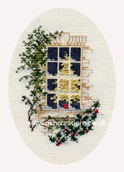 Christmas Window Card Cross Stitch Kit